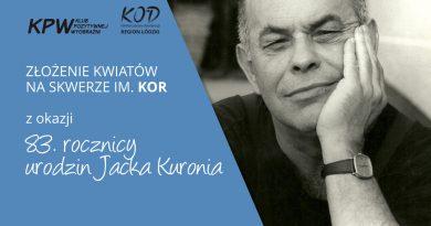 03.03 | Złożenie kwiatów na skwerze KOR w 83. rocznicę ur. Jacka Kuronia