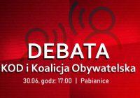 30.06   Debata: KOD i Koalicja Obywatelska / Pabianice