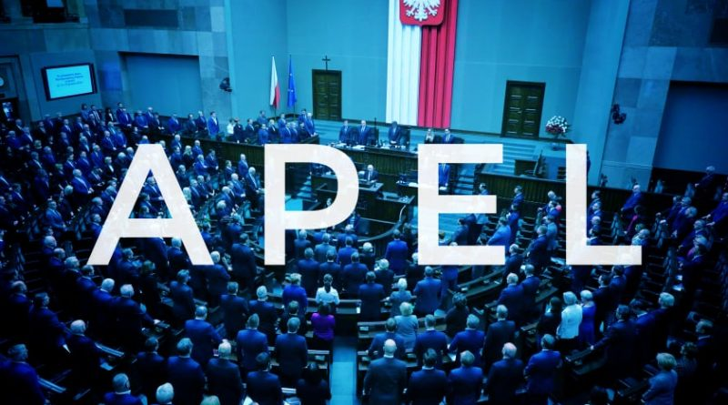 Apel do Posłanek i Posłów opozycji Sejmu VIII kadencji